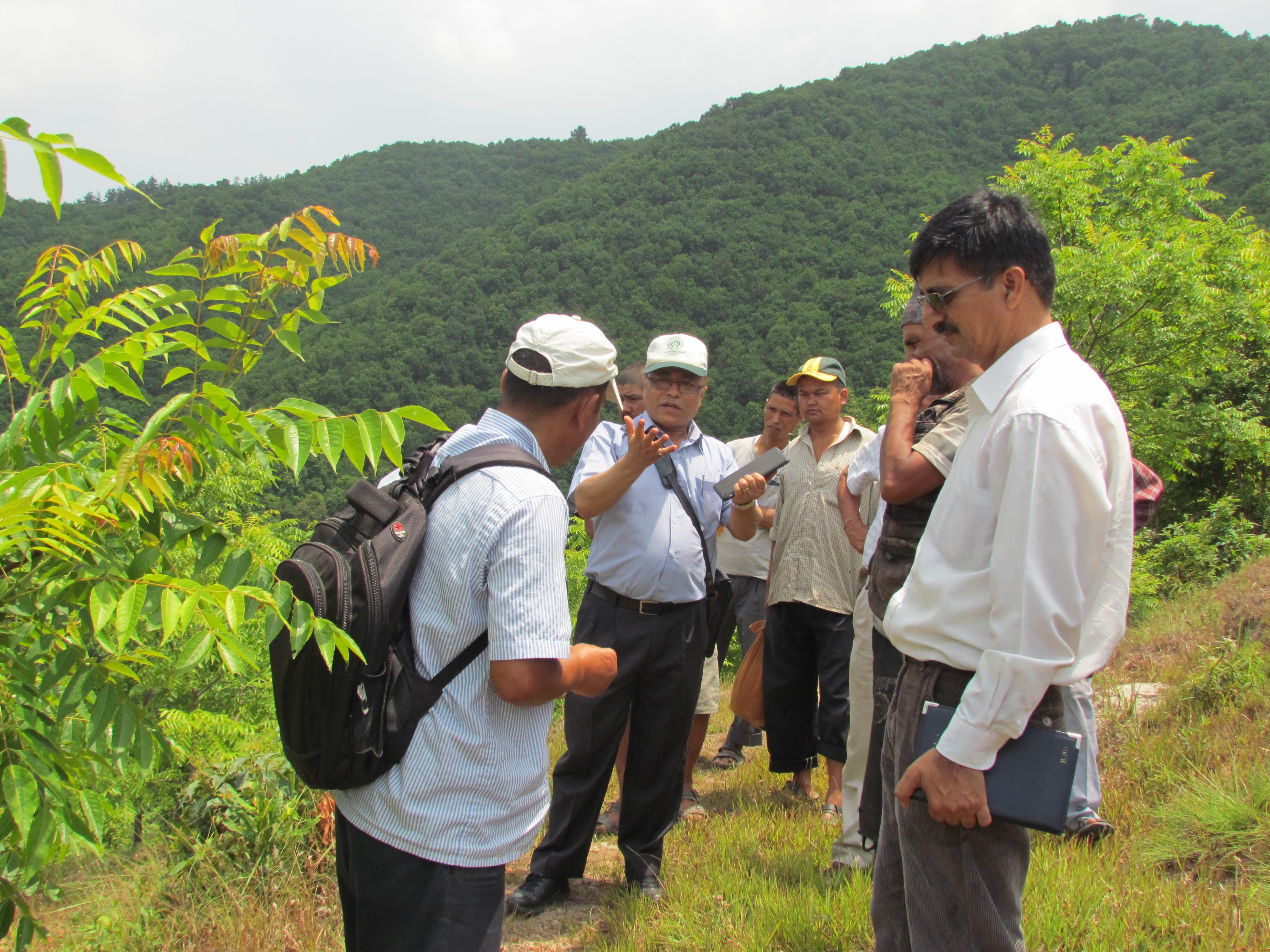 Dhaneshwor,Kavre,Visit of DG,Mr Prakash Mathema